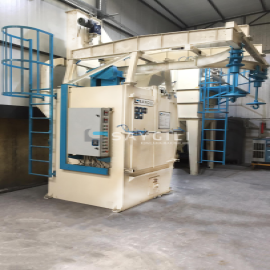 2 TURBINE HANGER TYPE BLAST CLEANING MACHINE