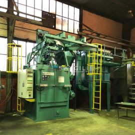 4 TURBINE HANGER TYPE BLAST CLEANING MACHINE