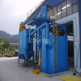 5 TURBINE HANGER TYPE BLAST CLEANING MACHINE