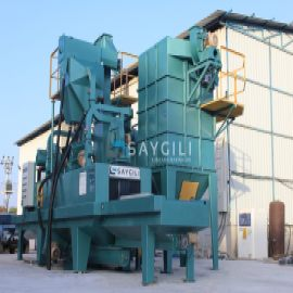 4 TURBINE GRANITE SHOTBLASTING MACHINE