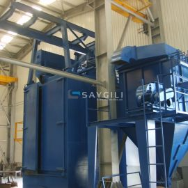 6 TURBINE HANGER TYPE BLAST CLEANING MACHINE