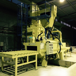 ALUMINIUM PROFILE BLAST CLEANING MACHINE
