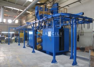 CONTINUOUS SYSTEM BLAST CLEANING MACHINE